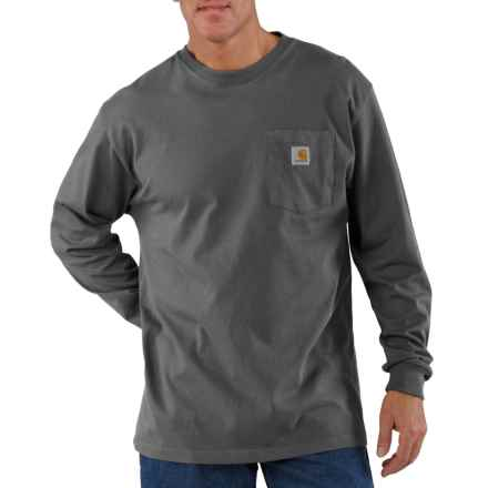Carhartt Workwear Pocket T-Shirt - Long Sleeve, Factory 2nds (For Men) in Charcoal - 2nds
