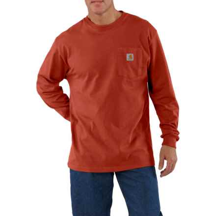 Carhartt Workwear Pocket T-Shirt - Long Sleeve, Factory Seconds (For Men) in Chili - 2nds