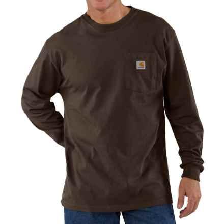 Carhartt Workwear Pocket T-Shirt - Long Sleeve, Factory Seconds (For Men) in Dark Brown - 2nds