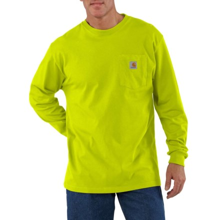 94e76ee096f Carhartt Workwear Pocket T-Shirt - Long Sleeve (For Big and Tall Men)