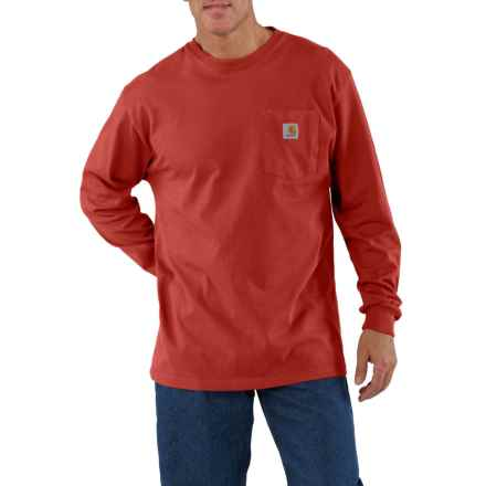 Carhartt Workwear Pocket T-Shirt - Long Sleeve (For Men) in Chili - Closeouts