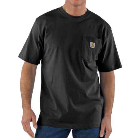 Carhartt Workwear Pocket T-Shirt - Short Sleeve, Factory Seconds (For Big and Tall Men) in Black - 2nds