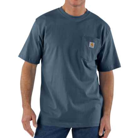 Carhartt Workwear Pocket T-Shirt - Short Sleeve, Factory Seconds (For Big and Tall Men) in Bluestone - 2nds
