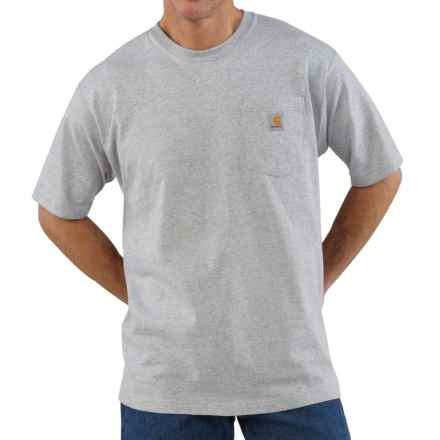 Carhartt Workwear Pocket T-Shirt - Short Sleeve, Factory Seconds (For Big and Tall Men) in Heather Gray - 2nds