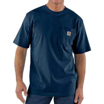 Carhartt Workwear Pocket T-Shirt - Short Sleeve, Factory Seconds (For Big and Tall Men) in Navy - 2nds