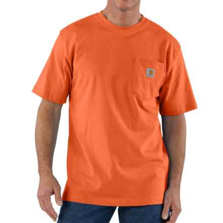 Carhartt Workwear Pocket T-Shirt - Short Sleeve, Factory Seconds (For Big and Tall Men) in Orange - 2nds