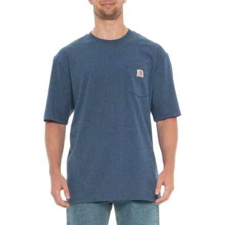 Carhartt Workwear Pocket T-Shirt - Short Sleeve, Factory Seconds (For Men) in Dark Cobalt Blue Heather - 2nds