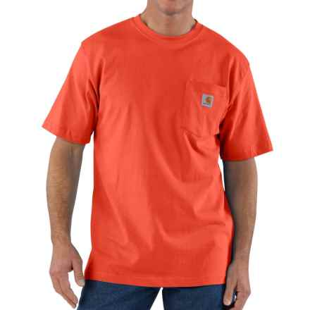 Carhartt Workwear Pocket T-Shirt - Short Sleeve, Factory Seconds (For Men) in Orange - 2nds