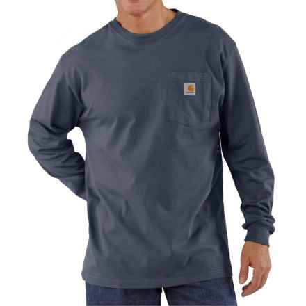 Carhartt Workwear T-Shirt - Long Sleeve (For Big Men) in Bluestone - 2nds