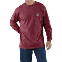 Carhartt Workwear T-Shirt - Long Sleeve (For Big Men) in Dark Red - 2nds