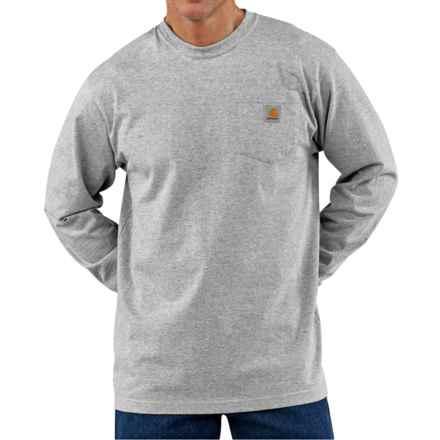 Carhartt Workwear T-Shirt - Long Sleeve (For Big Men) in Heather Grey - 2nds