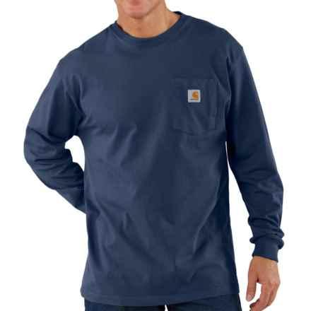 Carhartt Workwear T-Shirt - Long Sleeve (For Big Men) in Navy - 2nds