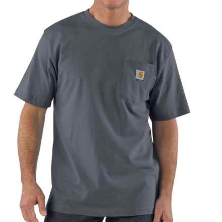 Carhartt Workwear T-Shirt - Short Sleeve, Factory Seconds (For Big Men) in Bluestone - 2nds
