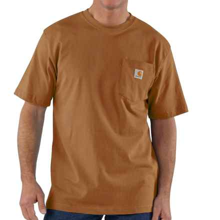 Carhartt Workwear T-Shirt - Short Sleeve, Factory Seconds (For Big Men) in Carhartt Brown - 2nds