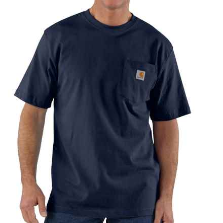 Carhartt Workwear T-Shirt - Short Sleeve, Factory Seconds (For Big Men) in Navy - 2nds