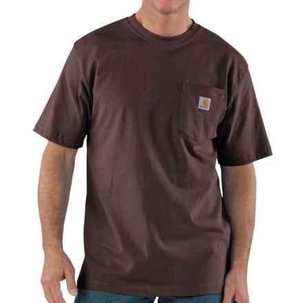 Carhartt Workwear T-Shirt - Short Sleeve (For Big Men) in Dark Brown - 2nds