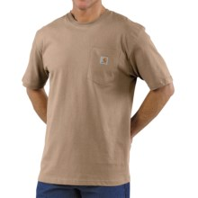 Carhartt Workwear T-Shirt - Short Sleeve (For Big Men) in Desert - 2nds