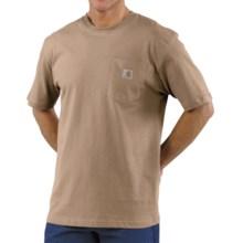 Carhartt Workwear T-Shirt - Short Sleeve (For Big Men) in Desert - 2nds