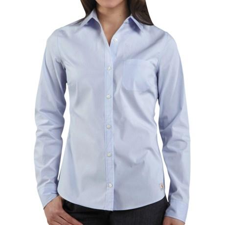Carhartt Woven Shirt - Long Sleeve (For Women) in Ice Pink