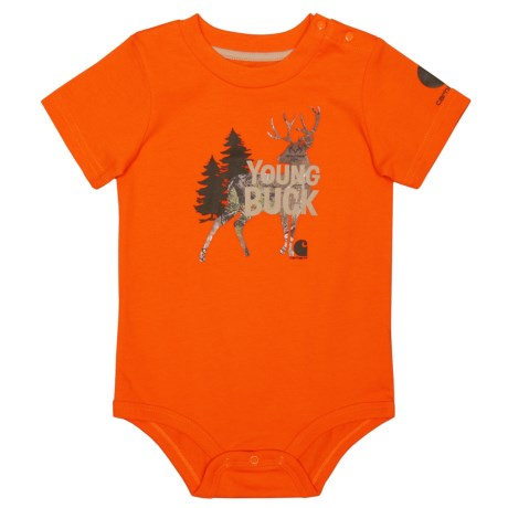 Carhartt Young Buck Baby Bodysuit - Short Sleeve (For Infants) in Bright Orange
