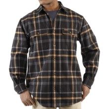 Carhartt Youngstown Flannel Shirt Jacket - Thermal Lined (For Men) in Black - 2nds