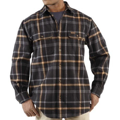 Carhartt Youngstown Flannel Shirt Jacket - Thermal Lined (For Men) in Army Green