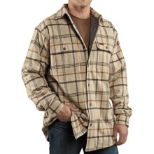 Carhartt Youngstown Flannel Shirt Jacket - Thermal Lined (For Men) in Field Khaki - 2nds