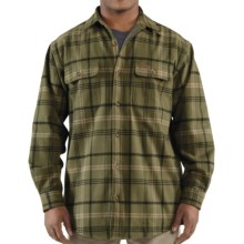 Carhartt Youngstown Flannel Shirt Jacket - Thermal Lined (For Tall Men) in Army Green - 2nds