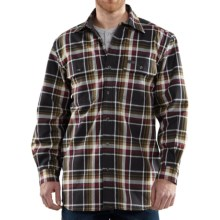 Carhartt Youngstown Flannel Shirt Jacket - Thermal Lining (For Men) in Black - 2nds