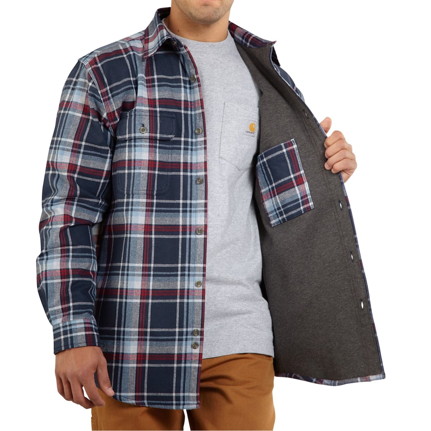North face shirts clearance sweater grey for Mens insulated flannel shirts