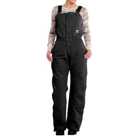 Carhartt Zeeland Sandstone Bib Overalls - Insulated, Factory Seconds (For Women) in Black - 2nds