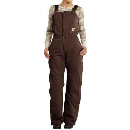 Carhartt Zeeland Sandstone Bib Overalls - Insulated, Factory Seconds (For Women) in Dark Brown - 2nds