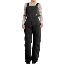 Carhartt Zeeland Sandstone Bib Overalls - Quilt Lined, Insulated (For Women) in Black - 2nds