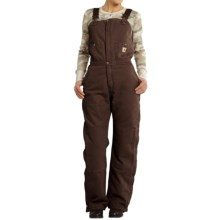 Carhartt Zeeland Sandstone Bib Overalls - Quilt Lined, Insulated (For Women) in Dark Brown - 2nds