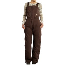 Carhartt Zeeland Sandstone Bib Overalls - Quilt Lined, Insulated (For Women) in Dark Brown