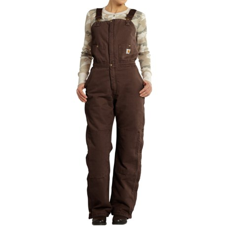 Carhartt Zeeland Sandstone Bib Overalls - Quilt Lined, Insulated (For Women)