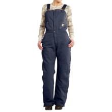 Carhartt Zeeland Sandstone Bib Overalls - Quilt Lined, Insulated (For Women) in Hudson Blue - 2nds