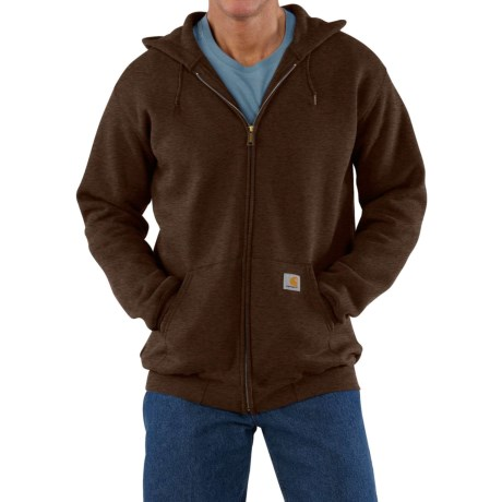 Carhartt Zip Hoodie - Factory Seconds (For Men) in Dark Coffee Heather