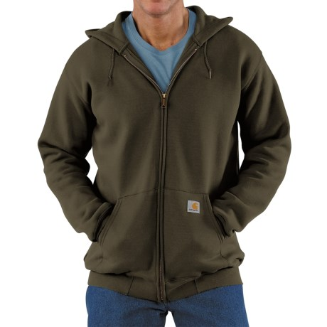Carhartt Zip Hoodie - Factory Seconds (For Men) in Olive