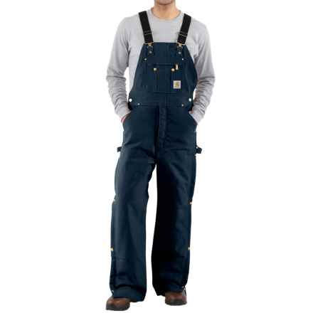 Carhartt Zip-to-Thigh Bib Overalls - Quilted Lining, Factory Seconds (For Men) in Dark Navy - 2nds