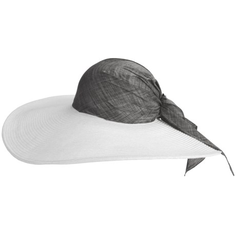 Caribbean Joe Braid Swinger Hat (For Women) in White/Black