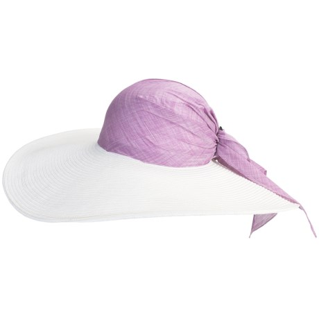 Caribbean Joe Braid Swinger Hat (For Women) in White/Mauve
