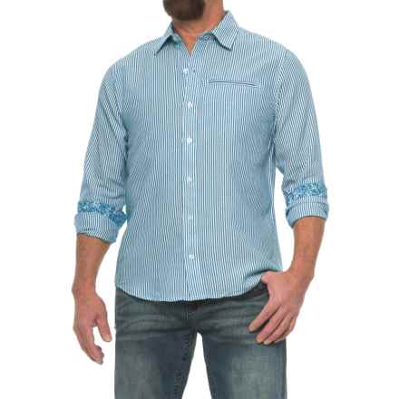 Caribbean Joe Button Shirt - Long Sleeve (For Men) in Chambray Blue - Closeouts