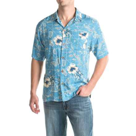Caribbean Joe Chart Topper Shirt - Short Sleeve (For Men) in Blue Grotto - Closeouts
