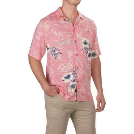 Caribbean Joe Chart Topper Shirt - Short Sleeve (For Men) in Pink Geranium - Closeouts