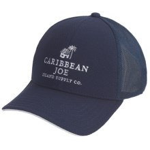 Caribbean Joe Cotton Twill Baseball Cap - Vented Crown (For Men and Women) in Navy/White - Closeouts