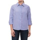 Caribbean Joe Dover Plaid Shirt - Cotton Blend, Roll-Up Long Sleeve (For Women)
