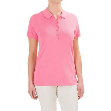 Caribbean Joe Embroidered Polo Shirt - Short Sleeve (For Women) in Colony Pink - Closeouts