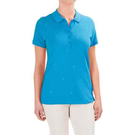 Caribbean Joe Embroidered Polo Shirt - Short Sleeve (For Women) in Mid Ocean - Closeouts
