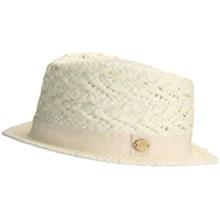 Caribbean Joe Fancy Weave Fedora Hat - Woven Paper (For Men and Women) in Ivory - Closeouts